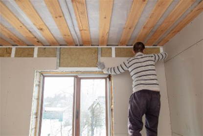 Installing drywall for interior residential painting in Rapid City, South Dakota