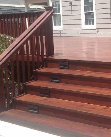 Dark Stain on a Rapid City deck and porch